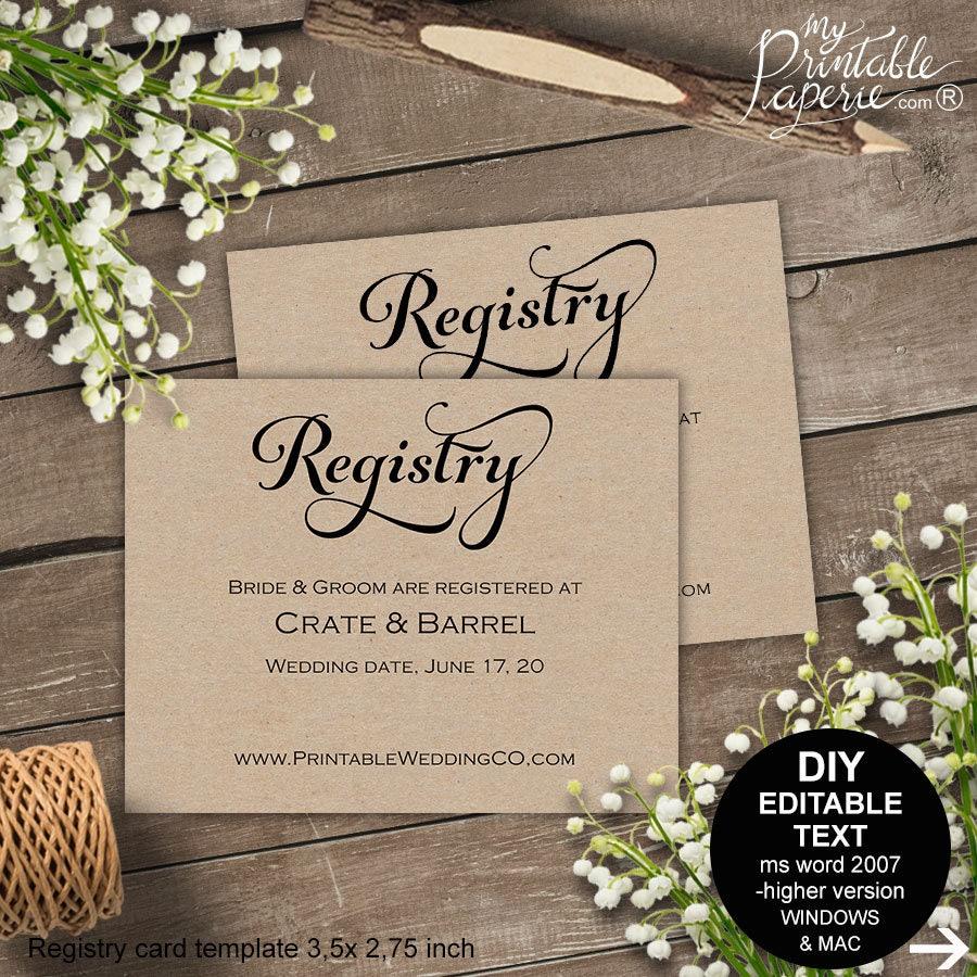 Registry card wedding registry wedding registry card gift for Gift cards for wedding registry
