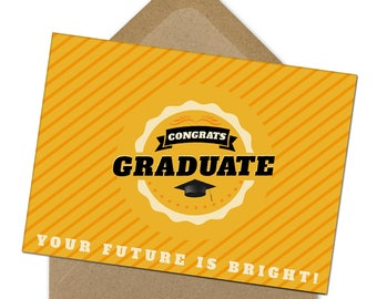 graduation card, congrats card, funny graduation card, class of 2017, graduation card, high school graduation, instant print, Printable | A6