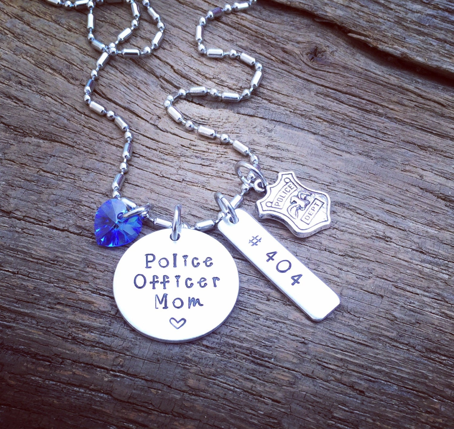 police mom necklace gift for a police officer 39 s mom