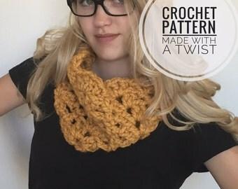 Chunky Lace Cowl CROCHET PATTERN - Pattern for Chunky Cowl - Crochet Cowl Pattern - Neck Warmer Pattern - DIY Chunky Neckwarmer