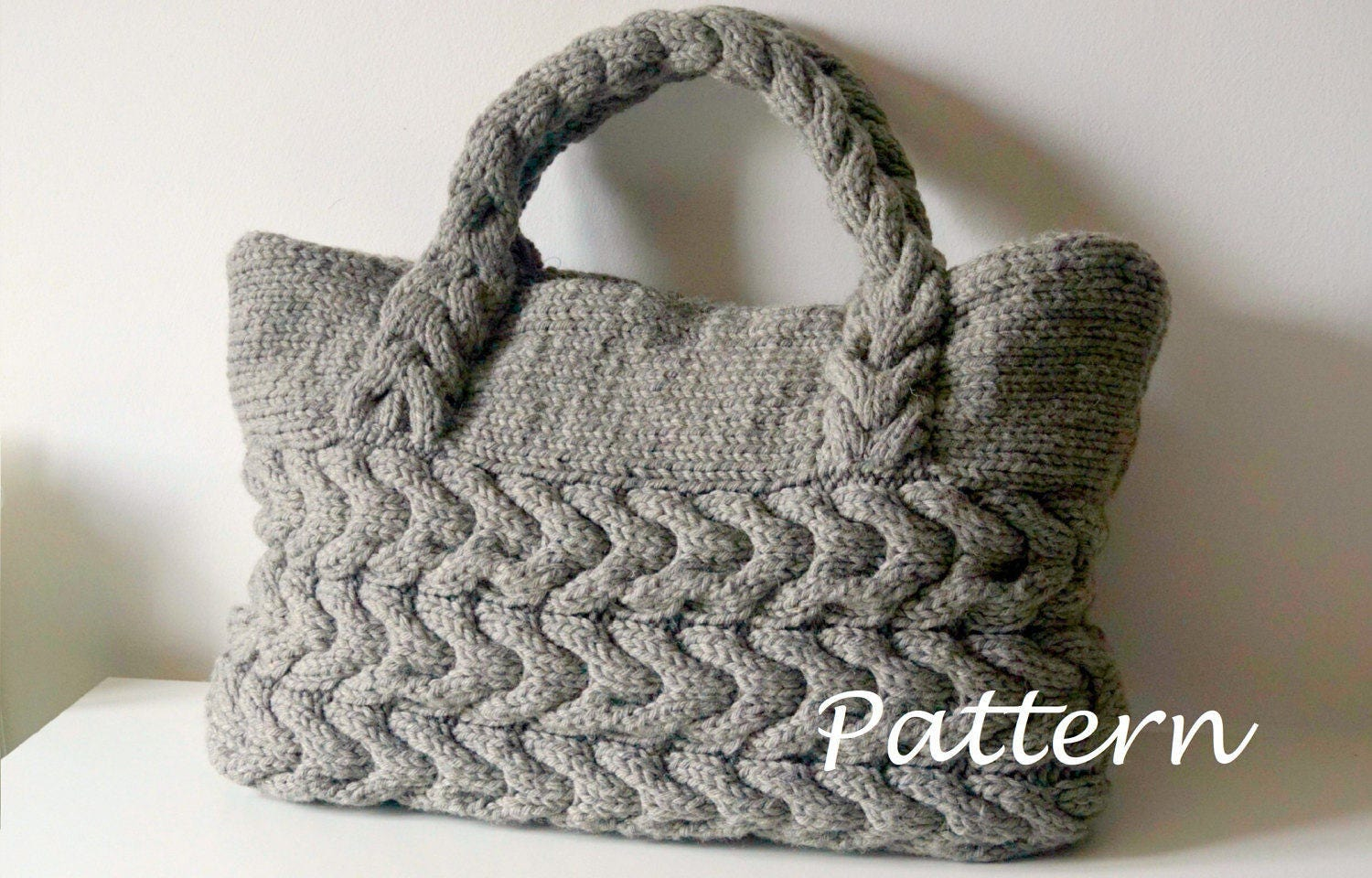 Knitting pattern cable bag knitting pattern knit bag pattern zoom bankloansurffo Gallery