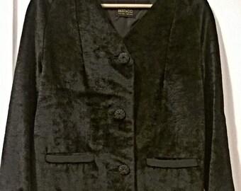 Beautiful Vintage Faux Fur Black Jacket