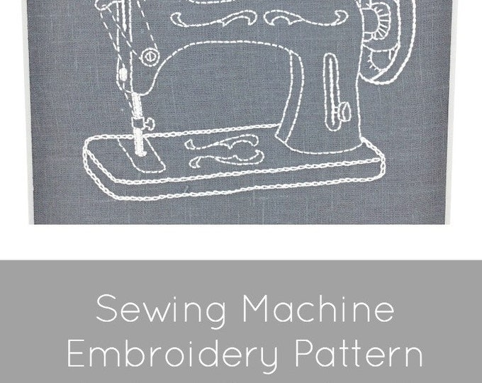Vintage Sewing Machine Embroidery Pattern - Digital Download