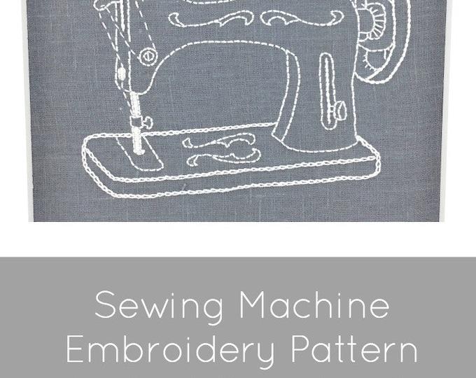 Vintage Sewing Machine Embroidery Pattern - Digital Download