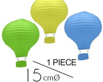 1 piece Colored Hot Air Balloon Paper Lanterns (6inch / 15cm) - DIY Wedding, Birthday, Party, Baby Shower, Nursery Decoration