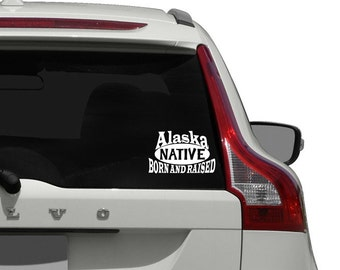 Alaska Car Decal / Alaska Native Car Decal / Alaska Native Car Window Decal Sticker / Alaska Native Car Decal Sticker