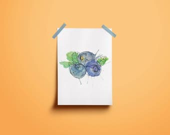 Blue Berry Art Print