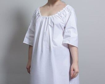 18th century shift in cotton, choose your size! - Reenactment cosplay historical costume undergarments chemise living history rococo baroque