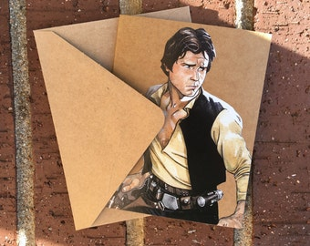 Star Wars - Han Solo Comic Book Greeting Card (Blank)