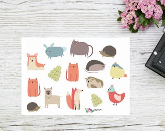 Planner stickers cute animals