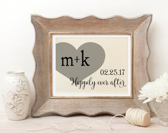 Disney Wedding Gift | Disney Bridal Shower | Disney Wedding | Wedding Gift for Couple | Happily Ever After Sign | Disney Engagement