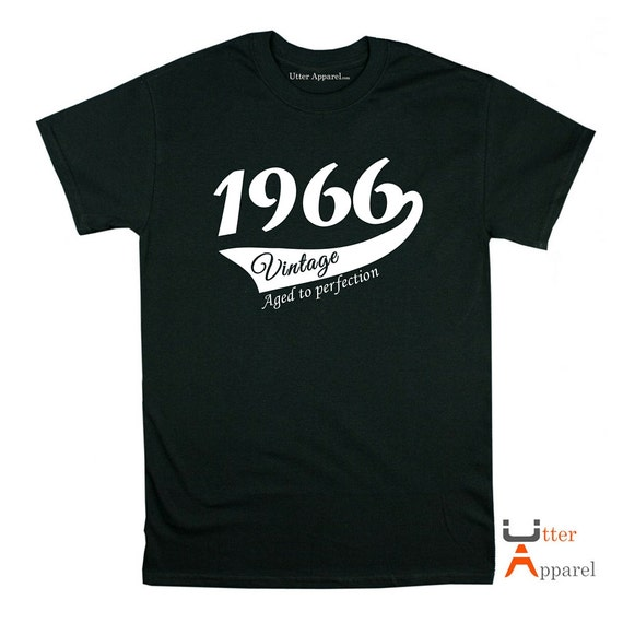 1966 birthday gift shirt for man or woman, various colours available, crew neck birthday shirt