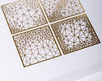 MIZYAN - Brass table accessory - parametric design, gift for herinspirational Jewelry
