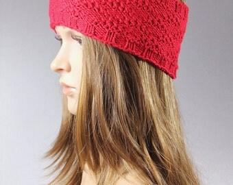 Chunky knit Ear Warmer, cable Knit Headband,Knit Head wrap,Knit EarWarmer, Pink knit headband, Red  knit headband, brown knit headband