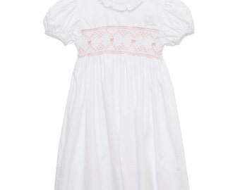 Vintage Smocked Bow Dress