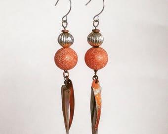 the PYTHON || dangle earrings