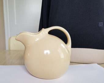 "Vintage ""Hall"" Water Pitcher in a Milk Latte Color"