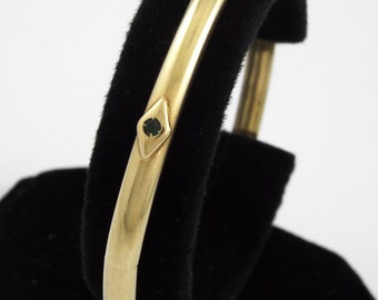 14K Yellow Gold Vintage Bracelet / Bangle w/ 6 Semi-precious Stones - 12.7 gr.