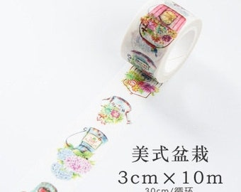 Potted plant washi tape
