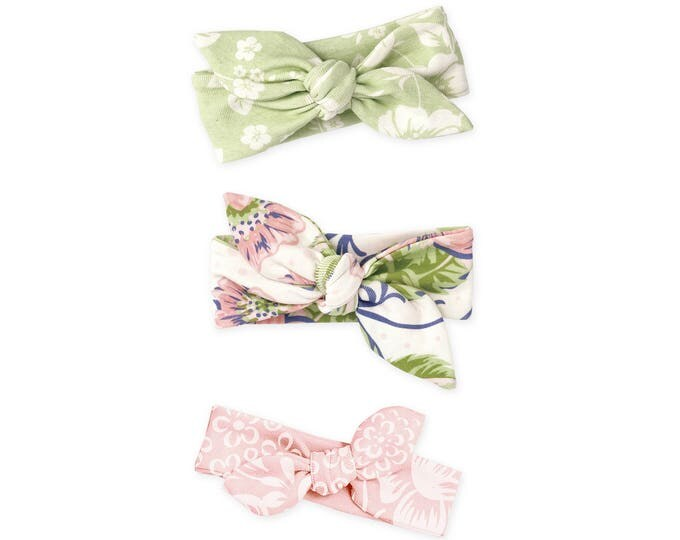 Newborn Headband Bow, Newborn Girl Headband, Baby Headwrap, Baby Girl Bow Headband, Baby Girl Bow, Baby Knot Headband, Floral, Tesababe