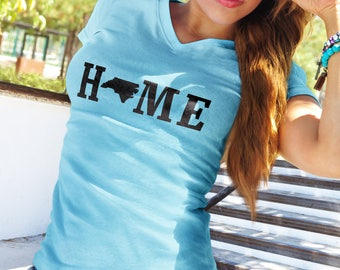 PREORDER SPECIAL Home State Linear Style Tank Racerback T Shirt - Ladies - Womens