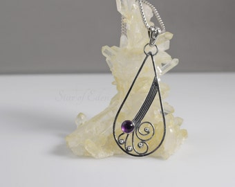Windfall - Amethyst and Sterling Silver Pendant