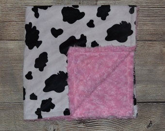 Cow Print Baby Blanket Etsy