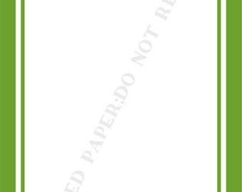 Art Deco notepad set (two) - Custom- personalized-Monogram- Initial- Name