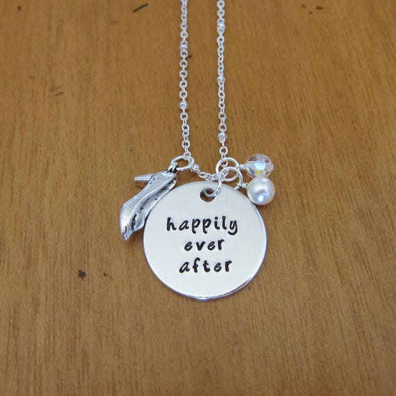 happily ever after necklace bride to be fairytale wedding present bachelorette party