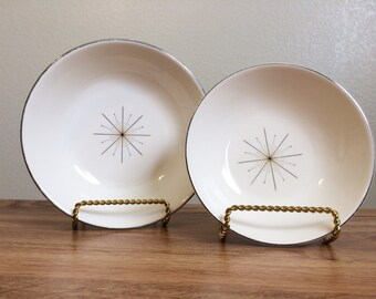 Vintage Homer Laughlin TST Modern Star Dinnerware Pattern Bowls 2 PCS