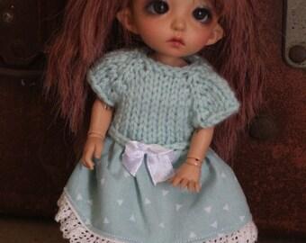 Pukifee Lati Yellow dress hand knitted