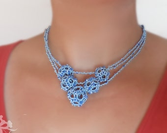 """Tatting Pattern """"3D Dodecahedron Necklace"""""""