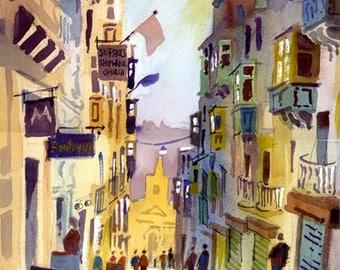 St Lucia St, Valletta, Malta