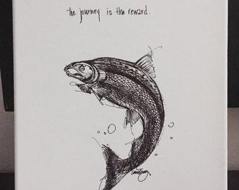 Salmon- the Journey fine art paper print