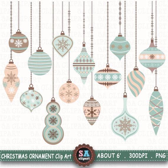 Items similar to christmas ornaments clipart christmas for Christmas decoration packs