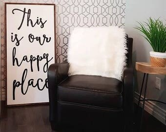 """This is our happy place 48x24"""""""