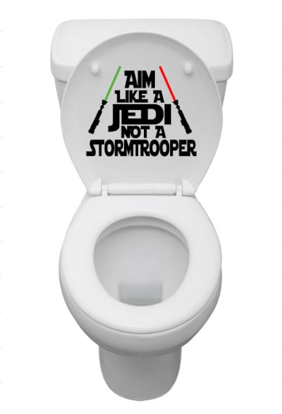 star wars toilet decal aim like a jedi not a stormtrooper