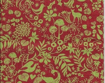 New Red and Green Christmas Medley 100% cotton fabric by the Fat Quarter