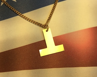 Resist ⊥ Anti-Trump Necklace - Pendant - Charm - Anti-Hate Anti-Racism Political Jewelry - Falsum - Upside Down T - Progressive Left