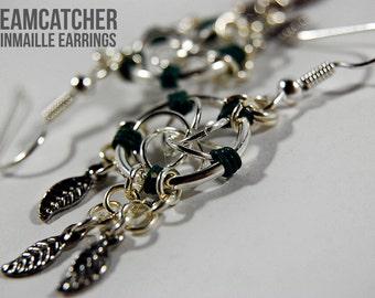 Dreamcatcher Chainmaille Earrings | Dreamcatcher Earrings | Chainmaille Earrings | Mobius Chainmail Earings | Mobius Earrings | Jump Rings
