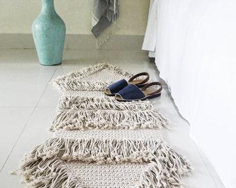 Contemporany macrame rug / carpet / ranran design