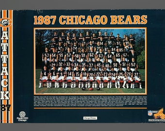 1987 Chicago Bears Chicago Tribune Promo Poster 20 x 30 Vintage Poster