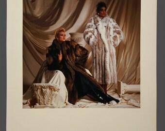 1980s Color Photo Fashion Photograph Photography Studio Portfolio Genuine Grignon Studios IL 14 x 17