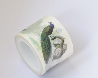 Peacock Washi Tape /Japanese Masking Tape 30mm wide x 5m long (1.2 inch wide x 5.5 yards long) No. 12258