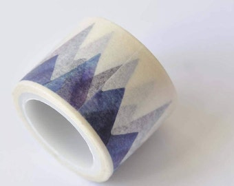 Mountains Washi Tape/ Watercolor Planner Tape/ Japanese Masking Tape 30mm wide x 5m long No. 12375