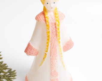 Vintage Russian plastic Toy from 1960-1980, Snow Maiden, New Year Girl (RT094)