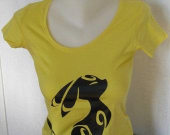 Blacky geek nitando Pokémon umbreon yellow cotton t-shirt