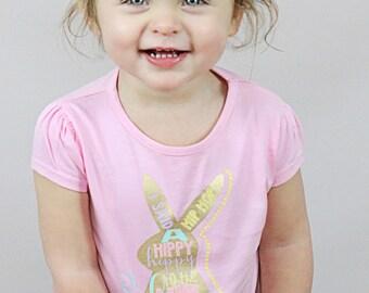 Easter Shirt for Girl - Easter Shirt Toddler - Easter Bunny Shirt - Easter Outfit Girl - Hip Hop Bunny Shirt - Pink Easter Shirt - Easter