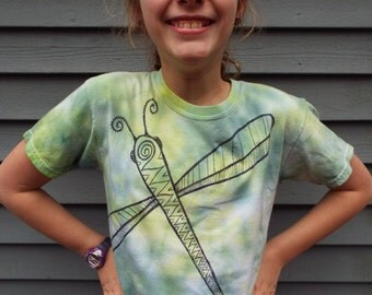 Kids Dragonfly T-Shirt, Youth Small Tie Dye Dragonfly Shirt, Little Kids Tiedye, Nature Kids, Insect Shirt, Bug Shirt Nature Lover Zentangle