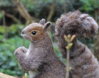Realistic Needle Felted Squirrel